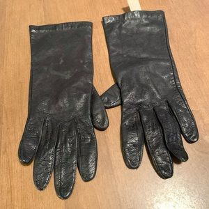 Aris size 7 vintage black leather gloves small